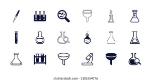 Chemistry Icons Cartoon Vector  Auto Electrical Wiring