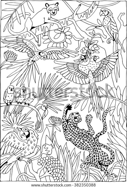 jungle coloring page # 61