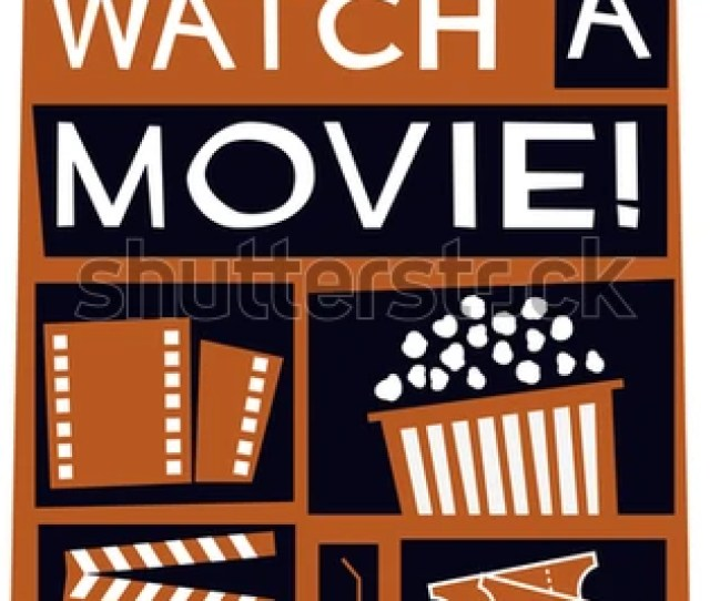 Lets Watch A Movie Vector Illustration Poster Design