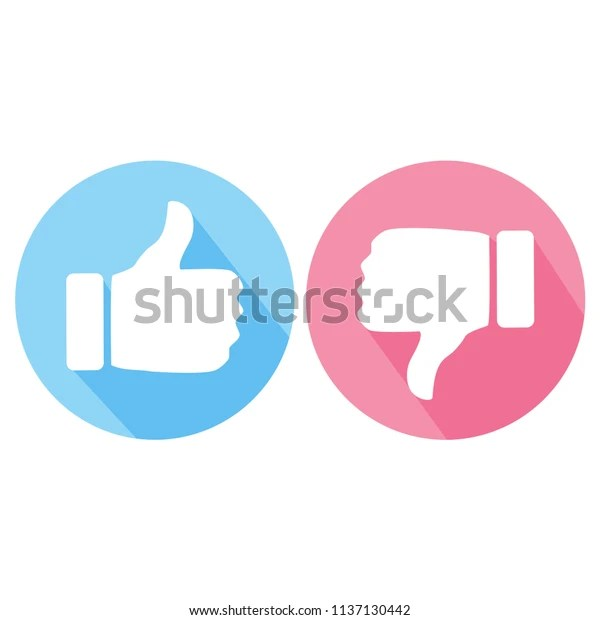 https www shutterstock com fr image vector like dislike thumb blue pink button 1137130442