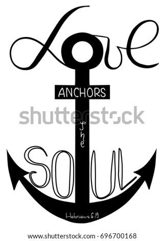 Download Love Anchors Soul Word Son God Vector de stock (libre de ...