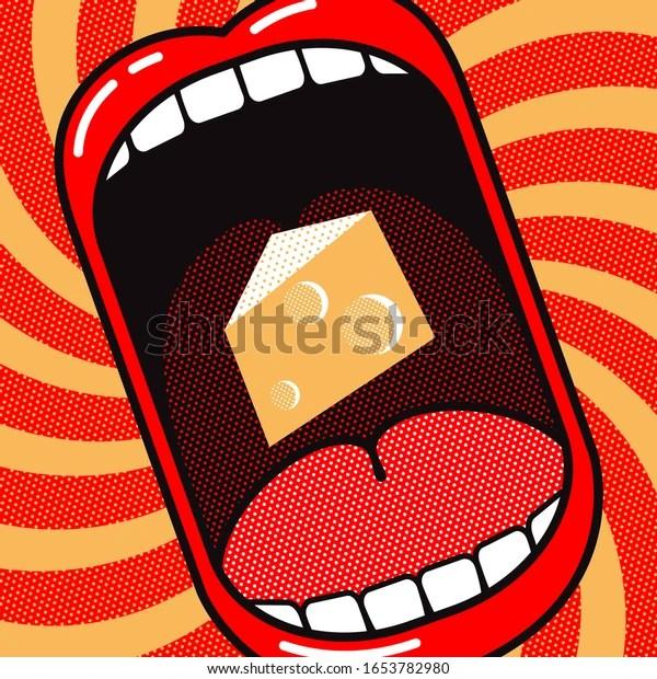 https www shutterstock com fr image vector love eat cheese funny cartoon poster 1653782980