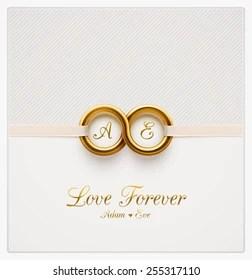 https www shutterstock com image vector love forever wedding invitation eps 10 255317110