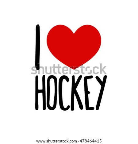 Download Love Hockey Sport Red Heart Simple Stock Vector (Royalty ...