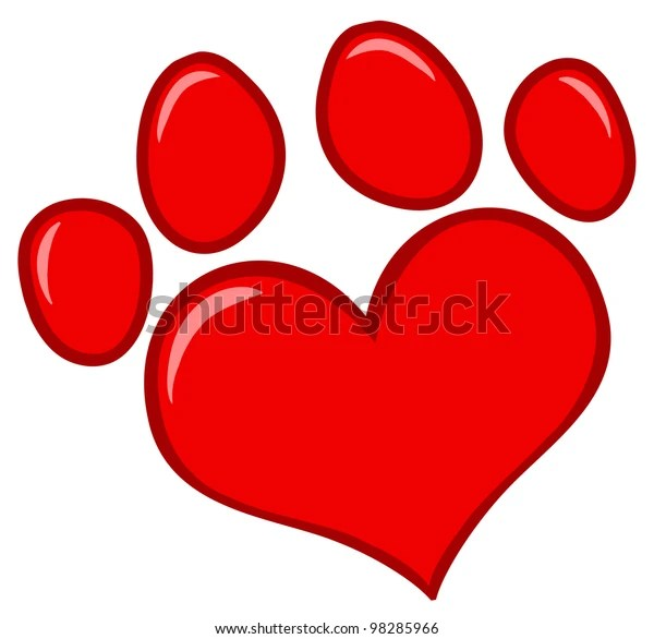 Download Love Paw Print Vector Illustration Stock Vector (Royalty ...