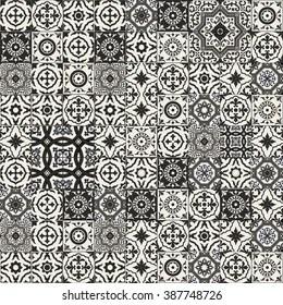 https www shutterstock com image vector mega gorgeous seamless patchwork pattern black 387748726