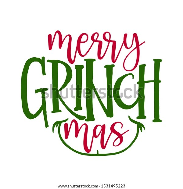 https www shutterstock com fr image vector merry christmas grinch calligraphy phrase hand 1531495223