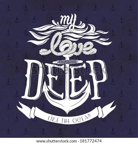 Download My Love Deep Like Ocean Stock Vector (Royalty Free ...