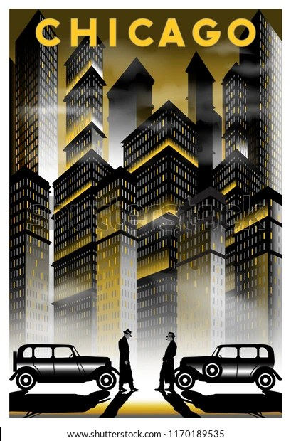 https www shutterstock com image vector once upon time night chicago handmade 1170189535