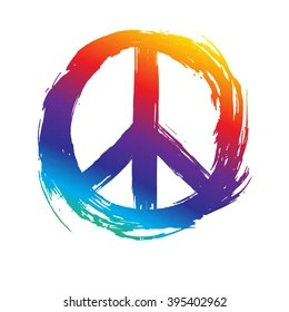 Peace Symbol Peace Hippie Symbol Stock Vector Royalty Free 395402962