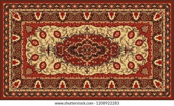 https www shutterstock com fr image vector persian carpet texture abstract tribal modern 1208922283