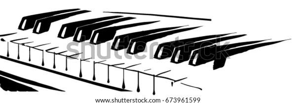 https www shutterstock com fr image vector piano keyboard black white vector sketch 673961599
