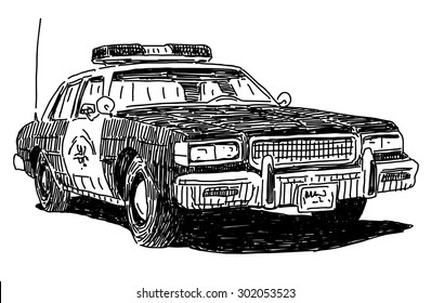 Police Car Drawing Images Stock Photos Vectors Shutterstock