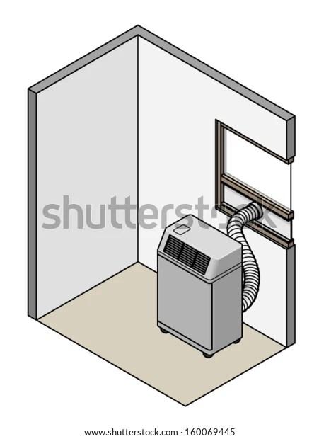 https www shutterstock com image vector portable air conditioner exhaust hose set 160069445