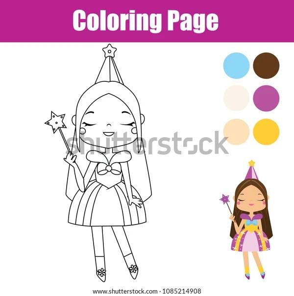 princess color page # 32