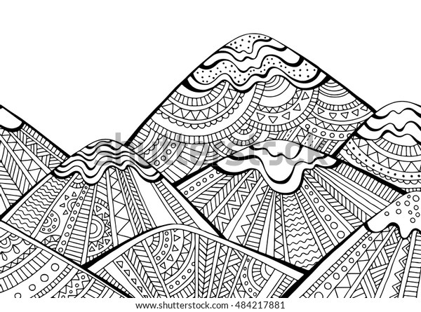 mountain coloring page # 42