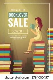 https www shutterstock com image vector promo sale flyer bookstore bookshop book 1794000457