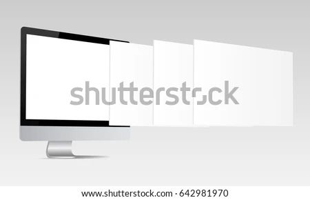 Responsive I Mac Screen Mockup Computer Monitor Stockvector