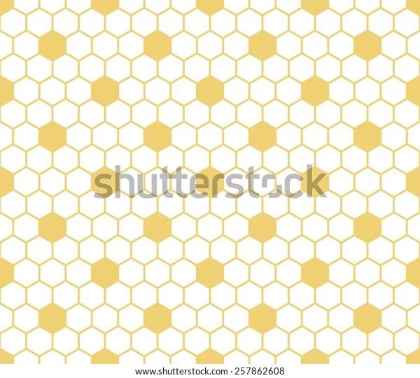 https www shutterstock com image vector seamless white yellow hexagon honeycomb tile 257862608