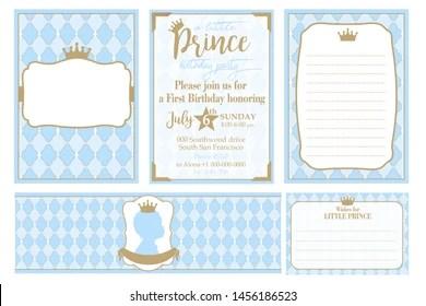https www shutterstock com image vector set cute blue templates invitations water 1456186523
