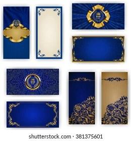 https www shutterstock com image vector set elegant template vip luxury invitation 381375601