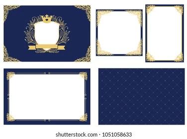 https www shutterstock com image vector set vector picture frame dark navy 1051058633
