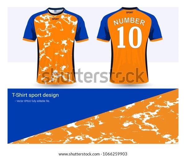 Download Soccer Jersey Tshirt Sport Mockup Template 스톡 벡터(로열티 프리 ...