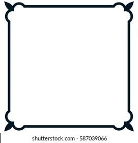 https www shutterstock com image vector square tile frame border line vector 587039066