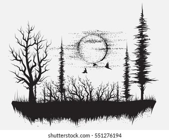Dotwork forest tattoo on right forearm. Tree Tattoo Images Stock Photos Vectors Shutterstock