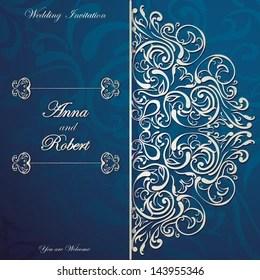 https www shutterstock com image vector stylish invitation card round lace design 143955346