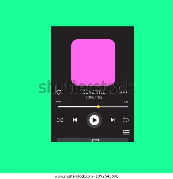 Education place has a good collections on pdf templates on graphics templates that can help you productively brainstorm and going through ideas. Vektor Stok Template Music Player Lyrics Handphone Spotify Tanpa Royalti 1892645608