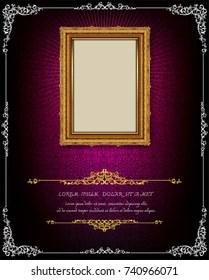 https www shutterstock com image vector thailand royal gold frame on drake 740966071