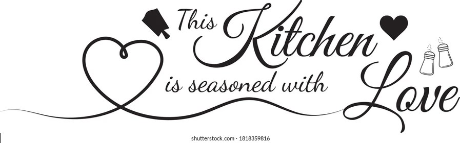 502 This Kitchen Is Seasoned With Love Free Svg By Caladesign Free Svg Cut Files Download For Cricut