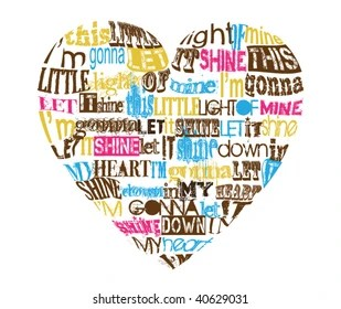 Image result for this little light of mine heart