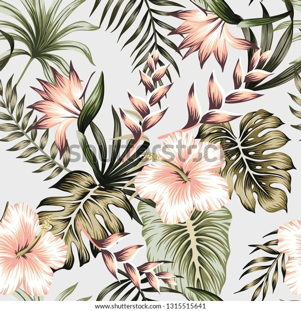 https www shutterstock com fr image vector tropical vintage green floral palm leaves 1315515641