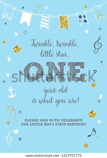 https www shutterstock com image vector twinkle little star boys first birthday 1227927772