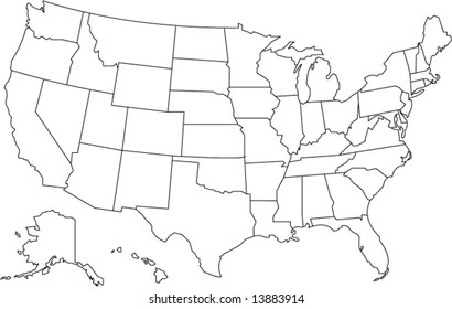 Free colorful usa map with states · atlanta, georgia vector map. United States Map Digital Images Stock Photos Vectors Shutterstock