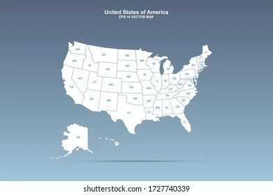 Check the states (and dc) you've been to in the list below. Us Map State Labels Images Stock Photos Vectors Shutterstock
