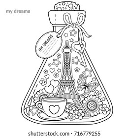Eiffel Tower Coloring Page Images Stock Photos Vectors Shutterstock