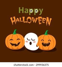 Vector Cute Happy Halloween Design Template Stock Vector Royalty Free 299936375