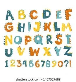 https www shutterstock com image vector vector funny comic dino alphabet numbers 1487529689
