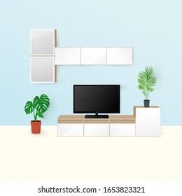 https www shutterstock com image vector vector illustration living room interior modern 1653823321