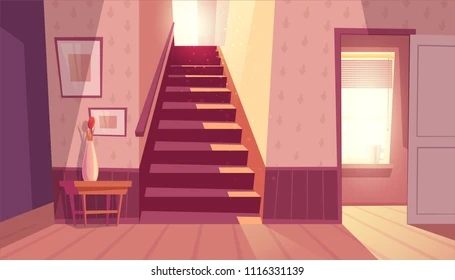 Staircase Images Stock Photos Vectors Shutterstock | House Design With Stairs In Front | Village | Front Yard Stair | Unique | Elevated | Wood
