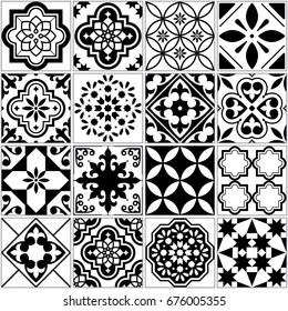https www shutterstock com image vector vector tile pattern lisbon floral mosaic 676005355