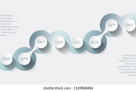 12 Month Timeline Images  Stock Photos   Vectors   Shutterstock Vector timeline presentation for 1 year  12 months