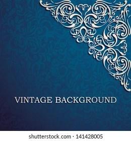 https www shutterstock com image vector vintage background designed corner card invitation 141428005