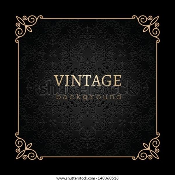 https www shutterstock com fr image vector vintage gold background vector antique frame 140360518