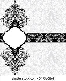 https www shutterstock com image vector vintage invitation card ornate elegant retro 349560869