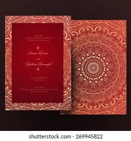 https www shutterstock com image vector vintage invitation cards lace ornament eastern 269945822