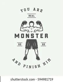 https www shutterstock com image vector vintage retro motivation logo emblem label 594981719